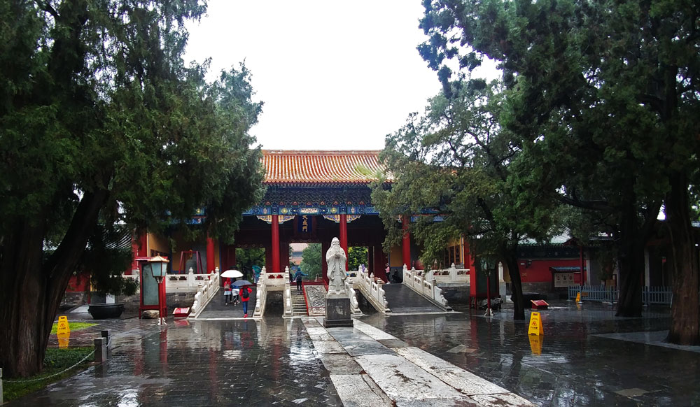 pioggia a pechino - beijing - china - travel - confucius temple - confucianism