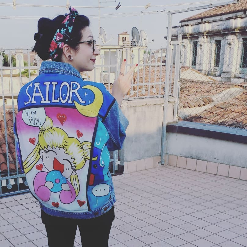 Sailor moon - denim jacket - yajie